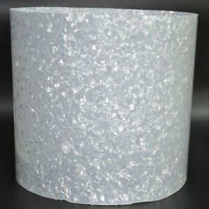 "Drum Wrap 16"" x 60"" 0.46mm White Pearl Celluloid Sheet Musical Instrument Sheet"