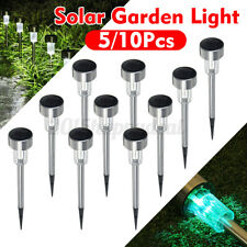 5/10Pcs LED Solar Lighting Lamps Outdoor Landscape Deco Garden Light For  h