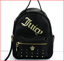 Juicy Couture Designer ON TOUR Mid Studded Backpack Purse Tote BLACK ❤️NEW❤️