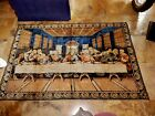 ANTIQUE TAPESTRY THE LAST SUPPER CIRCA 1940