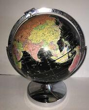 "Globe REPLOGLE Starlight Series 1960's 12"" Black Ocean Globe Metal Stand"