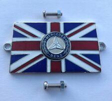 Mercedes Benz Union Jack GB Messing Emaille Oldtimer Abzeichen - Bolzen Auf