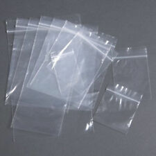 """100 x Petites Grip Seal sacs 1.5""""X 2.5"""" en plastique transparent pochettes Craft alimentaire 65 x 40 mm"""