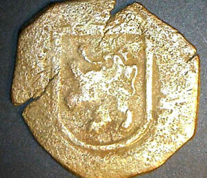 Felipe III Spain Maravedis, Cob, Toledo Mint, 4.66gm, 24mm, 1606-1618 Pirate Era