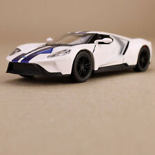 Ford GT 2017 Die-Cast Model Car White 1:38 Scale Opening Doors Pull-Back Action