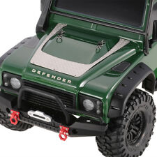 1/10 Rc Traxxas Trx - 4 Kit de placa metálica de Bonnet a Cuadros..