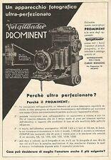 W7716 Apparecchio Fotografico VOIGTLANDER Prominent - Pubblicità del 1933 - Ad