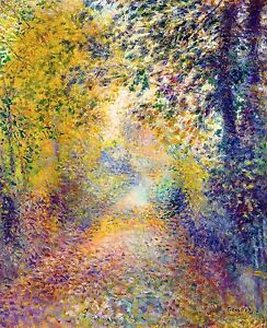 Renoir 1877, In the Woods, Fade Resistant HD Art Print or Canvas