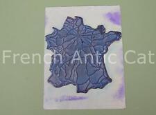 Tampon scolaire métal géographie france Chemins de fer train SNCF 19*14 cm AA029