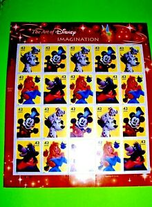 Imagination, 42 cents. Pane of 20 , Mint! August 7,  2008 The Art of Disney !!!