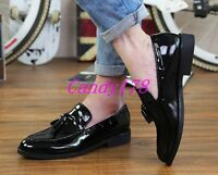 Mens Boys Brogue Dress Formal Tassels Loafers Slip On Casual Wedding Shoes Size