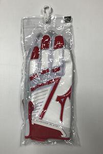 Mizuno Red and White 303 Batting Gloves NWT XL