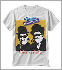 T-SHIRT UOMO DONNA THE BLUES BROTHERS STANLIO E OLLIO BEFOR AND AFTER GEN0345