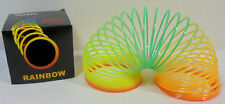 MAGIC SPRING SLINKY TOY VTG 80's PLASTIC RAINBOW SPRING MIP B