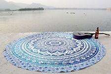 Indian Ombre Mandala Arte Della Parete Della Tappezzeria Tondo Spiaggia Tiro