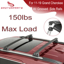 Roof Rack Cross Bars Luggage Carrier For 11-19 Jeep Grand Cherokee W/ Side Rails