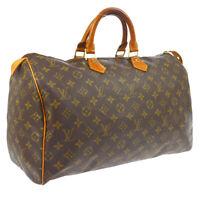 LOUIS VUITTON SPEEDY 40 HAND BAG MONOGRAM CANVAS LEATHER M41522 A46587j