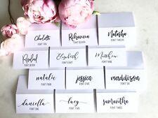 Custom Wedding Place Card Escort Cards Calligraphy Names Digitally Printed Gold