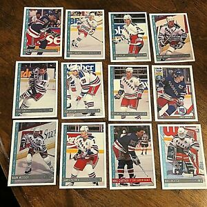 1992-93 O-Pee-Chee  NEW YORK RANGERS 21 Card team set