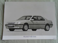 Peugeot 605 SVdt Press Photo 1991