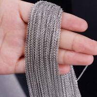 Wholesale Lots Silver 1.5/2.0/2.4/3.2mm Stainless Steel Bulk Factory Cross Chain