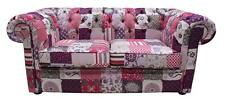 Chesterfield Patchwork Fiesta 2 Seater Fabric Sofa Settee