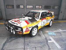 Audi s1 Sport quattro Rallye WM Africa BANDAMA 1984 #1 Blomqvist Otto résidus 1:18