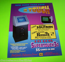 MERIT IN TOUCH SUPERTOUCH 30 ORIGINAL NOS VIDEO GAME SALES FLYER BROCHURE