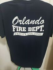 Orlando Fire Department Navy Blue XL  T-Shirt