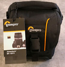 NEW - Lowepro Adventura SH 120 II Black Shoulder Bag for DSLR Camera With Lens