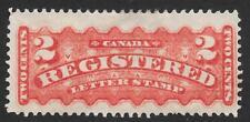 Canada 1889 2c Orange-Red Registration Stamp SG R2 (Mint)