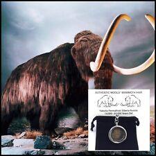 Extinct Woolly Mammoth Hair Pendant Keychain