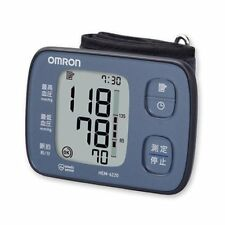 Omron Wrist Auto Blood-Pressure Meter monitor HEM-6220-BL Blue From Japan new