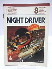 Anleitung - Handbuch - Bedienungsanleitung Atari - Night Driver