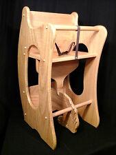 Wooden 3 in 1 Combo Highchair, Rocker, Desk  Solid Oak Kids Toy Golden Oak Stain