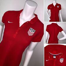 Nike Women's USA Soccer Polo Shirt 729546-657 Red Striped Size Medium $75