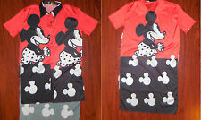 Disney World Mickey Mouse Womens Sleepwear Dress Night Gown Robe Sz Medium Large