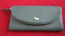 Brand New With Tags Radley CrownHill Large Zip Purse In Dark Green