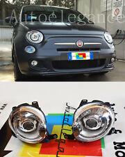 FARI ANTERIORI LENTICOLARI H7 PER FIAT 500 DAL 2007+
