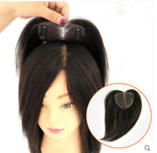 Women Hand-Made Mono 100% Human Hair Topper Hairpiece Top Piece for Thin Hair