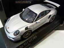 Very Rare 1:43 Minichamps Porsche 911 991 GT3 RS 2014 Rhodium Silver 410063220
