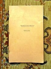 1933 ORIGINAL RELEASE SCRIPT - PRIVATE LIFE OF HENRY VIII - CHARLES LAUGHTON