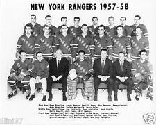 1957-1958 NEW YORK RANGERS 8X10 TEAM PHOTO