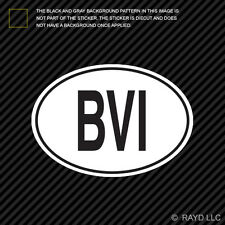 BVI British Virgin Islands Country Code Oval Sticker Decal Self Adhesive euro