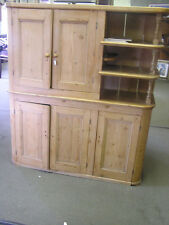 Pine Cabinet with Open Shelves