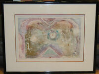 MONUMENTAL SIGNED CHARLES DAVISON SOUTHWEST ABSTRACT ART MONOTYPE 1/1 LITHOGRAPH