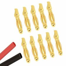 10 x Male RC 2mm Gold Bullet Connector + Heat Shrink Lipo Battery ESC Motor