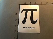 Pi Movie Soundtrack Sticker Postcard Promo (mirrored) RARE Aphex TWIN NEW PROMO