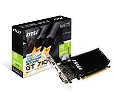 MSI GT710 Nvidia GeForce 2GB DDR3 Low Profile Silent Graphics Card 2GD3H-LP