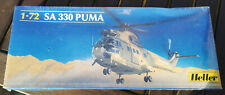 Scarce Heller 1/72nd scale SA Puma helicopter plastic model kit.